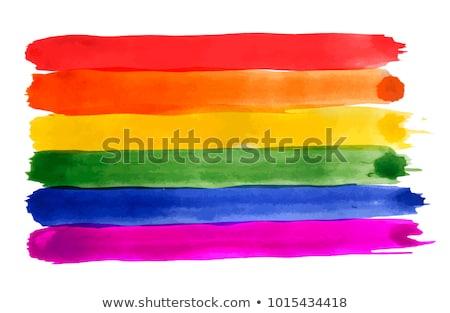 Gökkuşağı bayrak yaşam tarzı afiş lezbiyen ilişki Stok fotoğraf © kb-photodesign