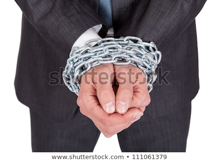 Businessman with bound hands Stock photo © cherezoff