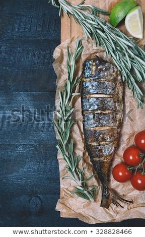 Fresco cavala pergaminho papel legumes Foto stock © Digifoodstock