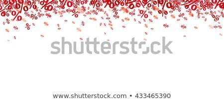 Rosso confetti bianco eps 10 vettore Foto d'archivio © limbi007