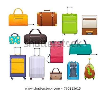 スーツケース · 画像 · スタック · 雲 · 平面 · スタイル - ストックフォト © bluering