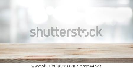 domu · klucze · tabeli · drewniany · stół · drewna - zdjęcia stock © fuzzbones0