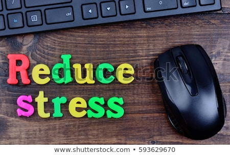 Stress table en bois mot bureau verre éducation Photo stock © fuzzbones0