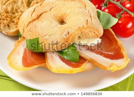 Prosciutto mozzarella rulo gıda et Stok fotoğraf © Digifoodstock