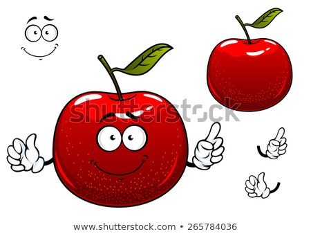 A red crunchy apple Stock photo © bluering