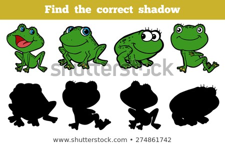 karikatür · kurbağa · siluet · örnek · su · peri - stok fotoğraf © adrian_n
