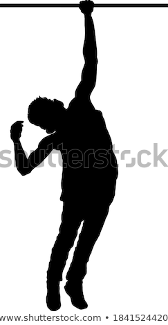 boy silhouette in Pulling Pose Stock photo © Istanbul2009