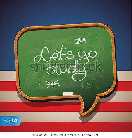 школы совета слово деревянный стол образование зеленый Сток-фото © fuzzbones0