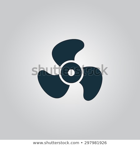 Gris hélice illustration blanche fond avion Photo stock © bluering