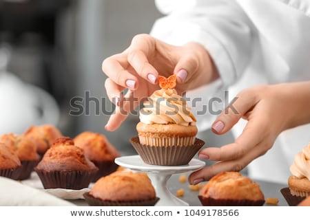 Appétissant boulangerie or fraîches table Photo stock © simply