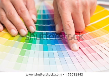 Colour swatches book with rainbow sample colors catalogue Stock photo © zurijeta
