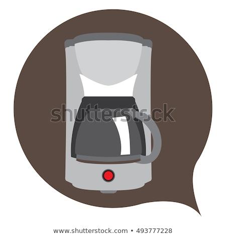 Koffiezetapparaat clipart afbeelding koffie donkere beker Stockfoto © vectorworks51