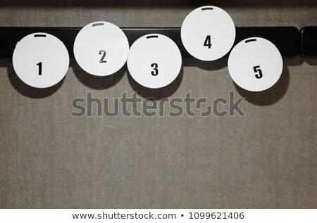 Per fare la lista numero magneti frigorifero copia spazio Foto d'archivio © adrian_n