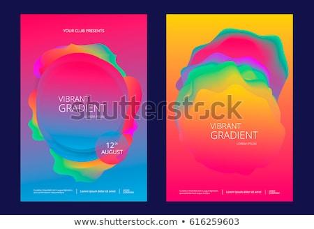 Wielobarwny wibrujący fale efekt ilustracja streszczenie Zdjęcia stock © latent
