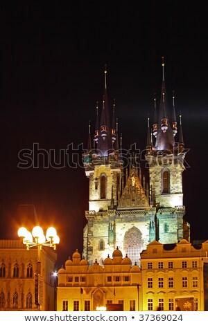 Prága · óváros · tér · turista · tömeg · Csehország - stock fotó © kirill_m