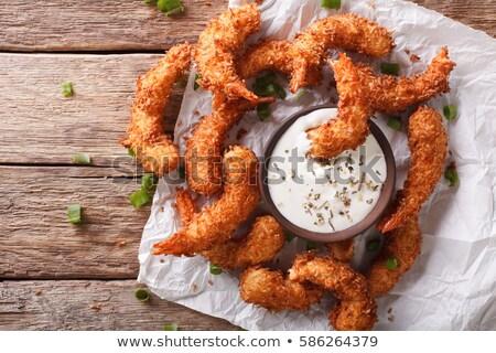 fried shrimp and sauce stock photo © m-studio