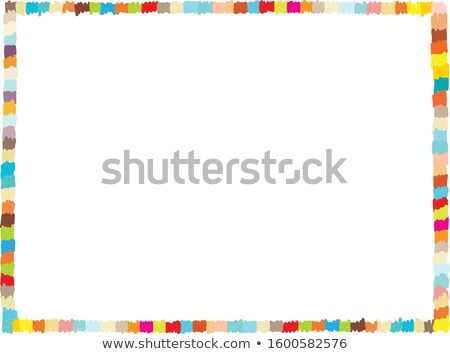 border template with kids in school band stock photo © bluering