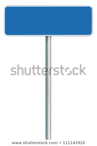 Blue signboard with metal pole Stock photo © tang90246