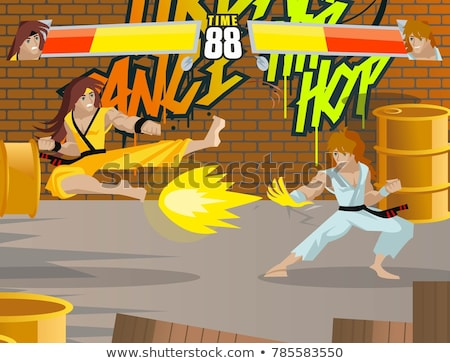 Rua lutador agressivo feminino sangrento Foto stock © Fisher