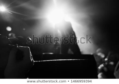 Férfi énekes előad szurkolók éjszakai klub színpad Stock fotó © wavebreak_media