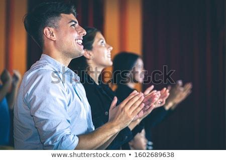 Csoportkép tapsol film színház nő film Stock fotó © wavebreak_media
