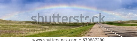 Regenboog snelweg saskatchewan Canada hemel natuur Stockfoto © benkrut