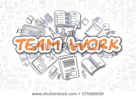 career vision   cartoon orange word business concept stock photo © tashatuvango