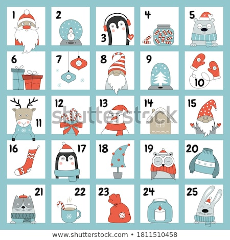 Advento calendário natal sacos vetor conjunto Foto stock © beaubelle