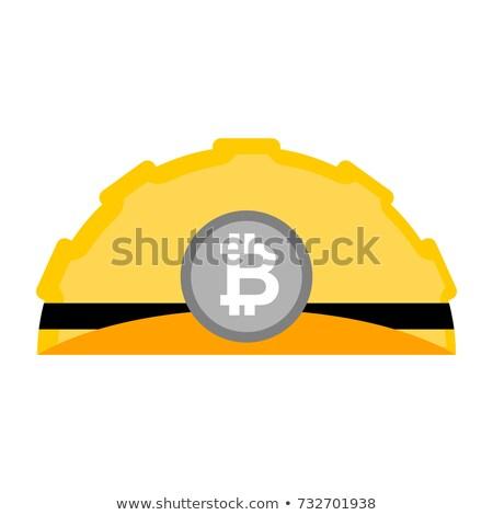 Bitcoin helm geïsoleerd mijnbouw hoed cap Stockfoto © MaryValery