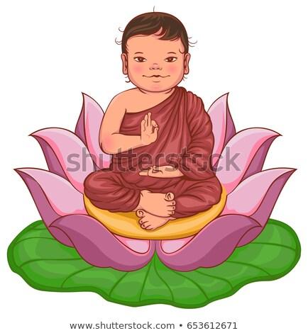 Будду мальчика изолированный белый Сток-фото © orensila