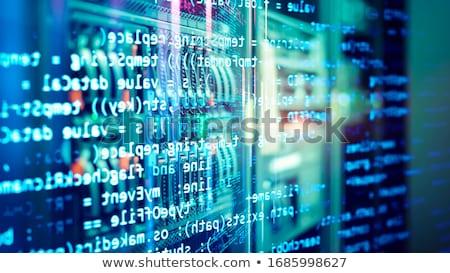 ビッグ データ キー ノートパソコンのキーボード 青 ストックフォト © tashatuvango