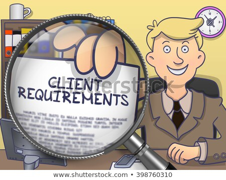 бизнесмен · клиент · женщину · служба · работу · столе - Сток-фото © tashatuvango