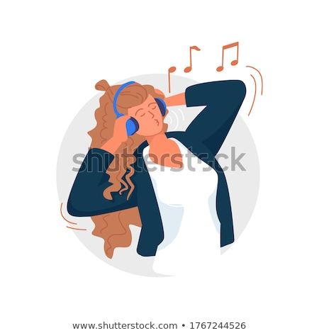 young woman hearing music Stock photo © IS2