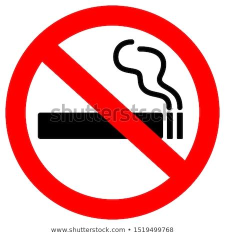 Banner dannoso abitudine fumare forma Foto d'archivio © Olena