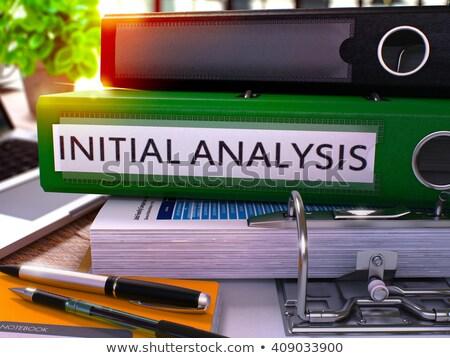 Elemzés zöld iroda mappa kép dolgozik Stock fotó © tashatuvango