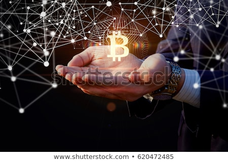 Diseno mundial bitcoin moneda red negocios Foto stock © SArts