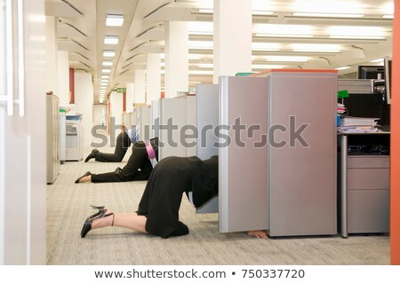 Business folk searching store cupboards Stock photo © IS2