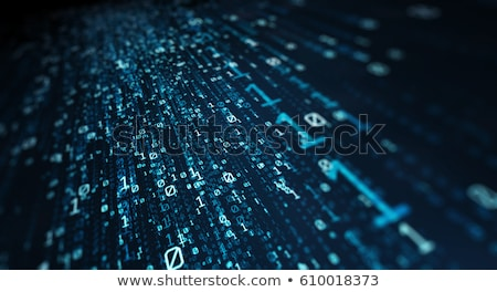 Blue futuristic background with binary code and network Stock photo © Zerbor