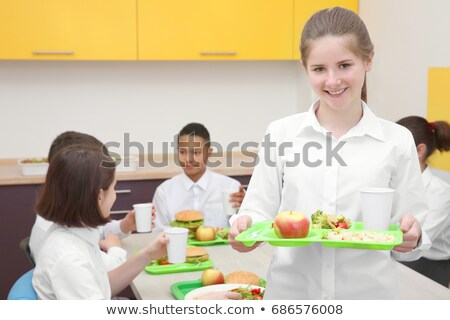 Girl Healthy Meal Kids Tray Stock photo © lenm