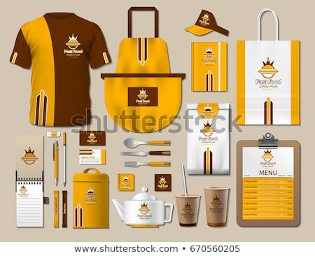 Business fastfood corporate identity items set Stock photo © frimufilms