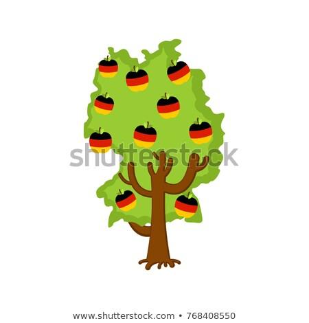 Hazafias almafa Németország térkép almák zászló Stock fotó © popaukropa