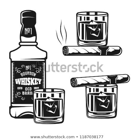 シガー · 灰皿 · ウイスキー · ビジネス · 煙 · バー - ストックフォト © popaukropa