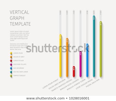 vector · statistiek · kolom · verticaal · grafiek · sjabloon - stockfoto © orson