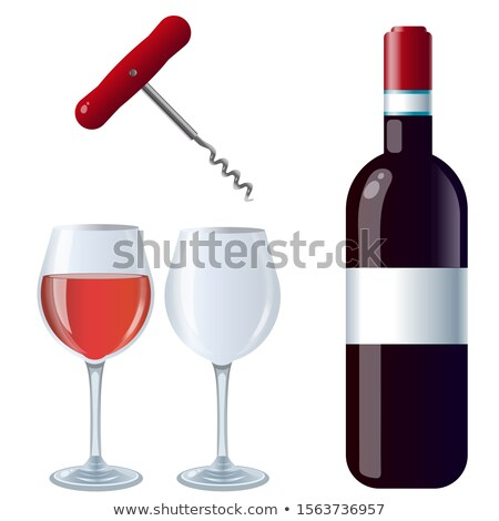 Garrafa caseiro vinho tinto cortiça branco reflexão Foto stock © DenisMArt