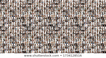 Diverse group of multicultural happy smiling people. Stock photo © RAStudio