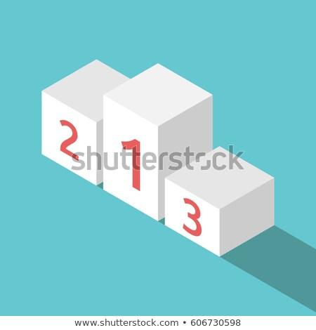 White podium isometry #2 Stock photo © Oakozhan