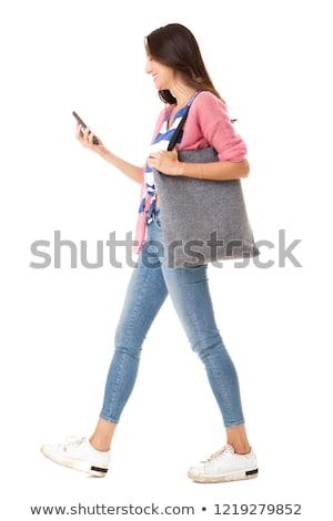 アジア 女性 女性 ハンドバッグ ビジネス スーツ ストックフォト © studioworkstock