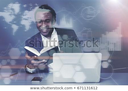 Africano empresário negócio diagrama financeiro Foto stock © studioworkstock