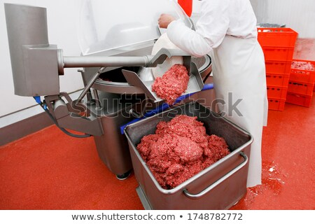 Minced meat at meat factory Stock photo © wavebreak_media