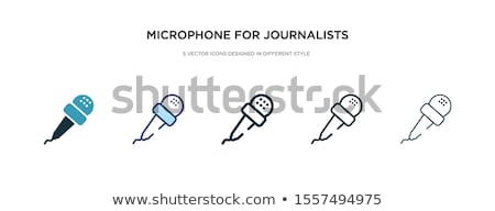 estetoscópio · isométrica · ícone · isolado · cor · vetor - foto stock © sidmay